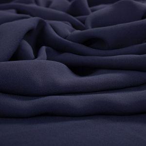 Tecido Crepe Georgete Pesado Azul Marinho
