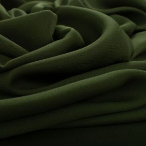 Tecido Crepe Georgete Pesado Verde Militar