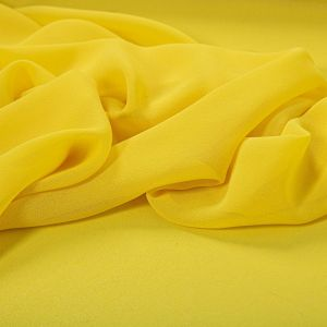 Tecido Crepe Georgete Premium Amarelo