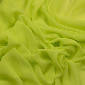 Tecido Crepe Georgete Premium Neon Verde Limão Claro