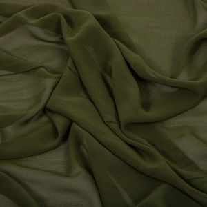 Tecido Crepe Georgete Verde Musgo