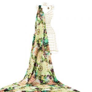 Tecido Crepe Moss Estampa Tie Dye Verde