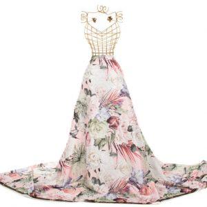 Tecido Crepe Vogue Estampa Maxi Floral Rosa