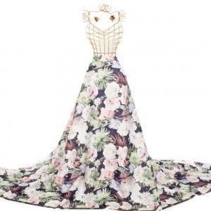 Tecido Crepe Vogue Maxi Floral Azul Marinho