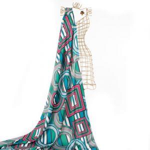 Tecido Crepe Vogue Silk Estampa Geométrica