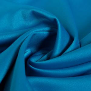 Tecido Crepe Vogue Span Azul Aquário Intenso