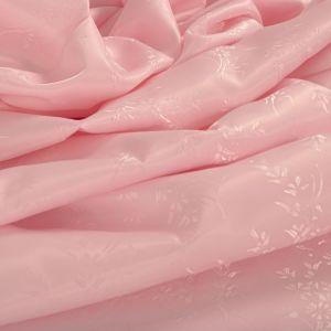 Tecido Failete Jacquard Floral Cor de Rosa