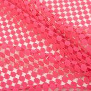 Tecido Guipear Poá Pink