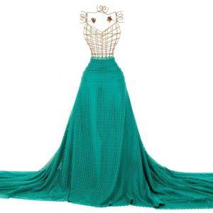 Tecido Guipear Poá Verde Esmeralda Claro