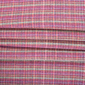 Tecido Tweed Leve de Algodão Xadrez Cor de Rosa