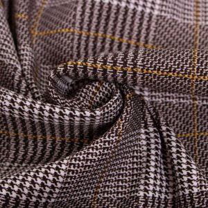 Tecido Lã Leve Xadrez Marrom