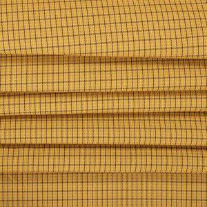 Tecido Lã Leve Mini Xadrez Span Cor Mostarda