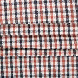 Tecido Lã Leve Mini Xadrez Span Creme Ferrugem e Preto