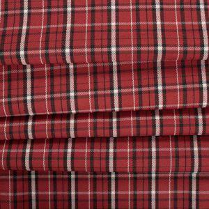 Tecido Lã Leve Xadrez Span Marsala