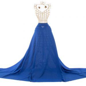 Tecido Laise Círculos Azul Royal