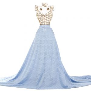 Tecido Laise Círculos Azul Serenity