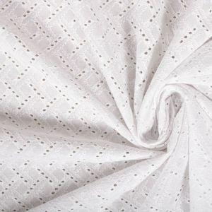 Tecido Laise Geométrica Branca