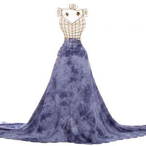 Tecido Laise Tie Dye Azul Marinho