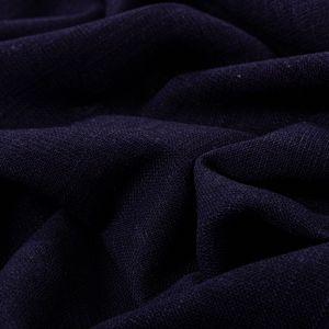 Tecido Linho Rústico com Viscose Azul Marinho
