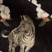 Tecido Linho Misto Preto Estampa Barrada Doncella Zebras