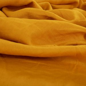 Tecido Linho Puro Amarelo Dourado