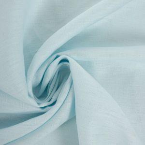 Tecido Linho Puro Azul Celeste Claro