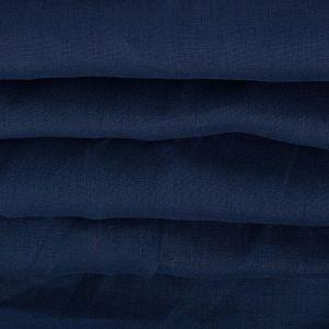Tecido Linho Puro Azul Marinho Claro