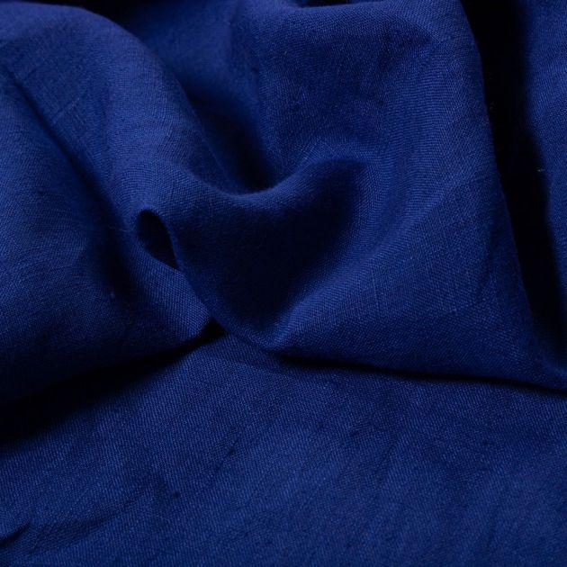 Tecido Linho Puro Azul Bic