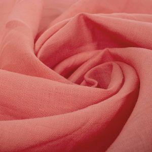 Tecido Linho Puro Coral Rosado