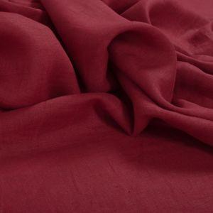 Tecido Linho Puro Vermelho Beterraba