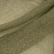 Tecido Lurex de Tule Verde Militar