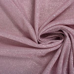 Tecido Malha Glitter Cor de Rosa