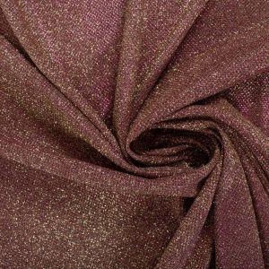 Tecido Malha Glitter Pink com Dourado
