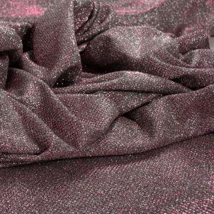 Tecido Malha Glitter Pink com Prata
