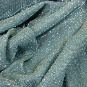 Tecido Malha Glitter Verde Menta