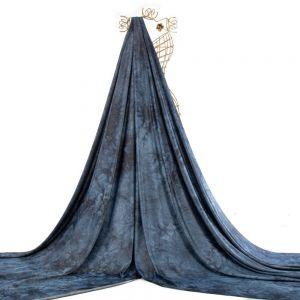Tecido Malha Moletinho Tie Dye Azul Aquário