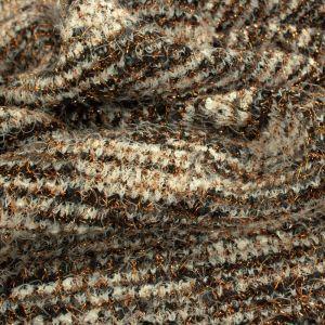 Tecido Malha Tweed Lurex Marrom