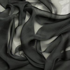 Tecido Musseline Dior Cinza Chumbo