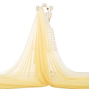 Tecido Musseline Dior Degradé Amarela