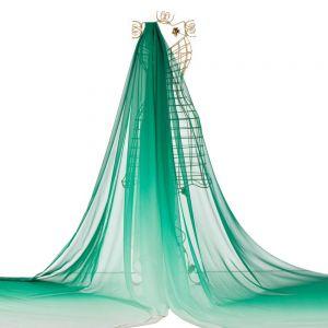 Tecido Musseline Dior Degradé Verde