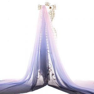 Tecido Musseline Dior Doncella Tie Dye Rosa, Lilás e Grafite