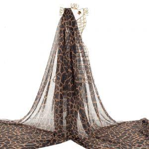 Tecido Musseline Dior Estampa Doncella Animal Print Girafa