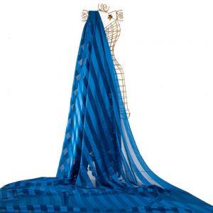 Tecido Musseline Doncella Devoré Listrado Classic Blue