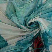 Tecido Musseline Doncella Estampa Pareô Pássaro - 1,50m
