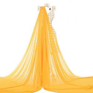 Tecido Musseline Point Sprit Amarelo