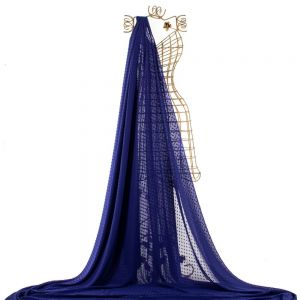 Tecido Musseline Point Sprit Azul Royal