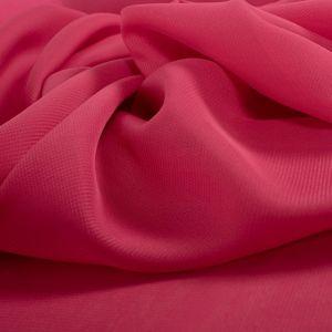 Tecido Musseline Rosa Carmim