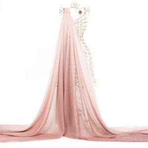 Tecido Musseline Toque de Seda Degradé Rosa Blush