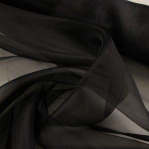 Tecido Organza Cristal Preto