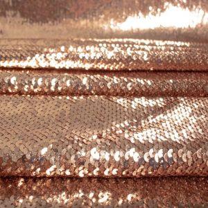 Tecido Paetê Rosé Gold